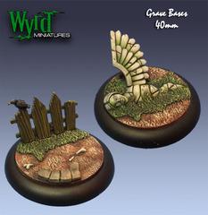 Wyrd Base Inserts - Graveyard - 40mm