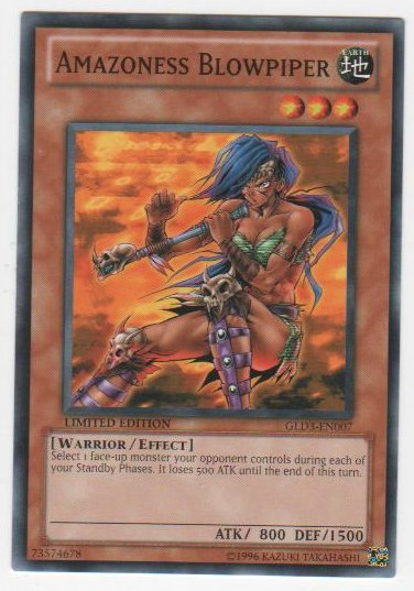 Amazoness Blowpiper - GLD3-EN007 - Common - Limited Edition