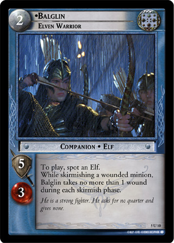 Balglin, Elven Warrior