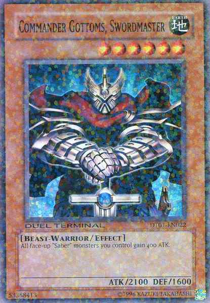 Commander Gottoms, Swordmaster - DT01-EN022 - Super Rare - Duel Terminal
