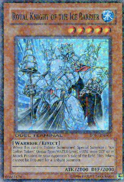 Royal Knight of the Ice Barrier - DT01-EN065 - Super Parallel Rare - Duel Terminal