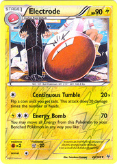 Electrode - 22/108 - Uncommon - Reverse Holo on Channel Fireball