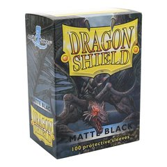 Matte Black - Standard Boxed Sleeves (Dragon Shield) - 100 ct