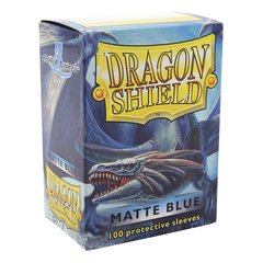 Matte Blue - Standard Boxed Sleeves (Dragon Shield) - 100 ct