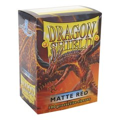 Dragon Shield - Matte Red 100 Count Standard Sleeves