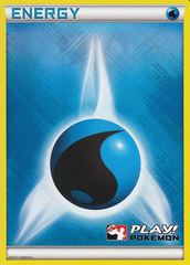 Water Energy Unnumbered Crosshatch Holo Promo - 2011 Play! Pokemon