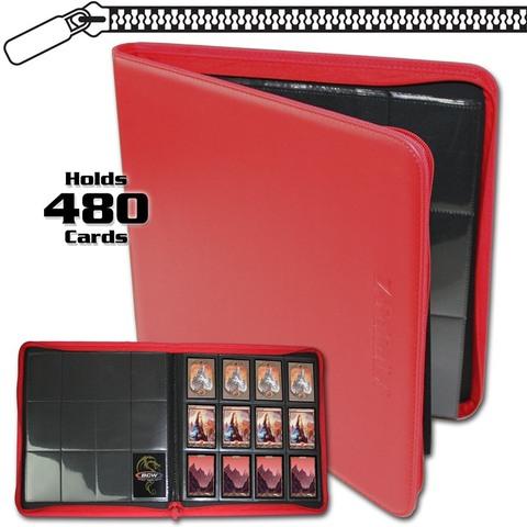 BCW Z-Folio 12-Pocket LX Album - Red