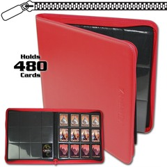 BCW Z-Folio 12-Pocket LX Album - Red