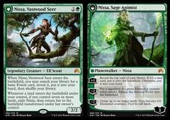Nissa, Vastwood Seer // Nissa, Sage Animist - Foil
