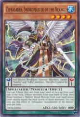 Zefrasaber, Swordmaster of the Nekroz - CROS-EN026 - Common - Unlimited Edition