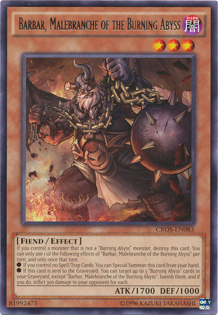 Barbar, Malebranche of the Burning Abyss - CROS-EN083 - Rare - Unlimited Edition