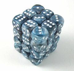 CHX27890 State Lustrous Dice with White Pips D6 12mm on Channel Fireball