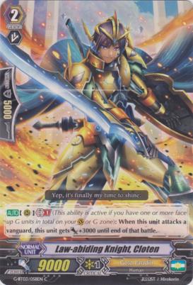 Law-abiding Knight, Cloten - G-BT03/058EN - C
