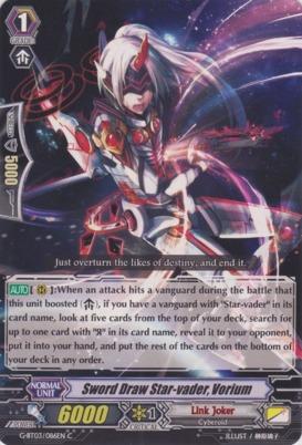 Sword Draw Star-vader, Vorium - G-BT03/086EN - C