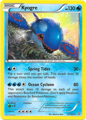 Kyogre - 53/160 - Cracked Ice Holo Ocean's Core Theme Deck Exclusive