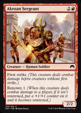 Akroan Sergeant - Foil