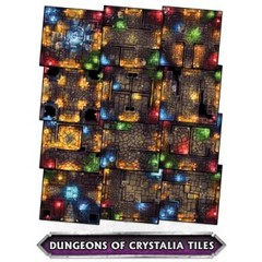 Super Dungeon Explore: Dungeon Tiles - Dunegons of Crystalia Tile Pack