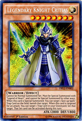 Legendary Knight Critias - DRL2-EN002 - Secret Rare - 1st Edition