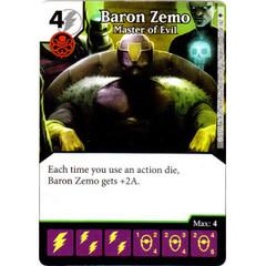 Baron Zemo - Master of Evil (Die & Card Combo)