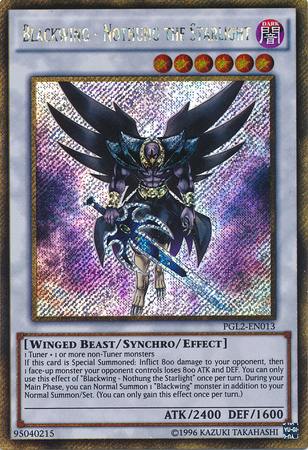 Blackwing - Nothung the Starlight - PGL2-EN013 - Gold Secret Rare - Unlimited Edition