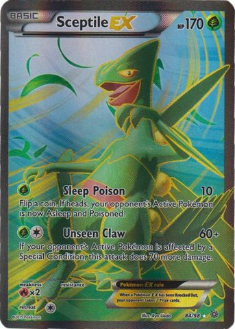 Sceptile-EX - 84/98 - Full Art Ultra Rare