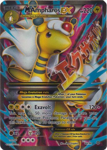 Mega-Ampharos-EX - 88/98 - Full Art Ultra Rare