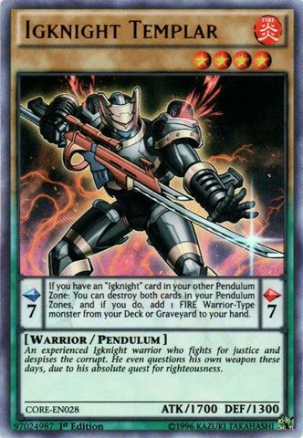 Igknight Templar - CORE-EN028 - Ultra Rare - 1st Edition