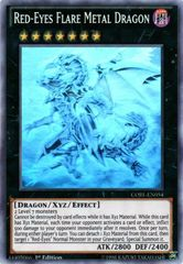 Red-Eyes Flare Metal Dragon - CORE-EN054 - Ghost Rare - 1st Edition