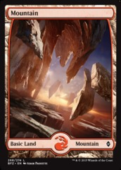 Mountain (Full Art) - Battle for Zendikar - 268
