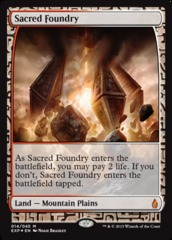 Sacred Foundry - Foil (Zendikar Expedition: Battle for Zendikar Lands)