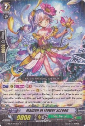 Maiden of Flower Screen - G-BT04/042EN - R