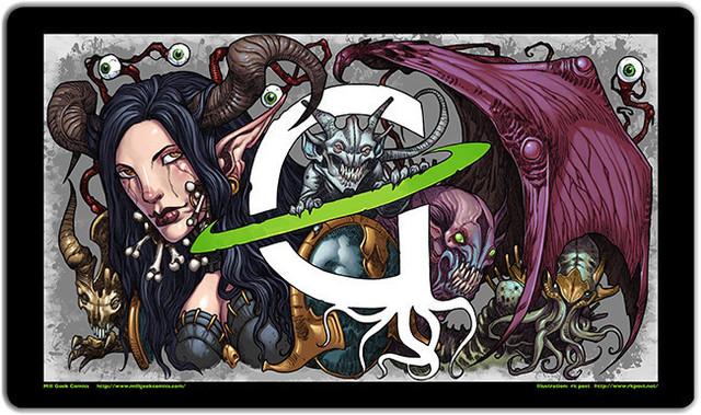 DOMINARIA Belzenlok Demon PLAY MAT PLAYMAT ULTRA PRO FOR MTG CARDS