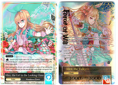 Alice, the Girl in the Looking Glass // Alice, the Valkyrie of Fairy Tales - SKL-093 // SKL-093J - R - 1st Edition (Full Art) on Channel Fireball