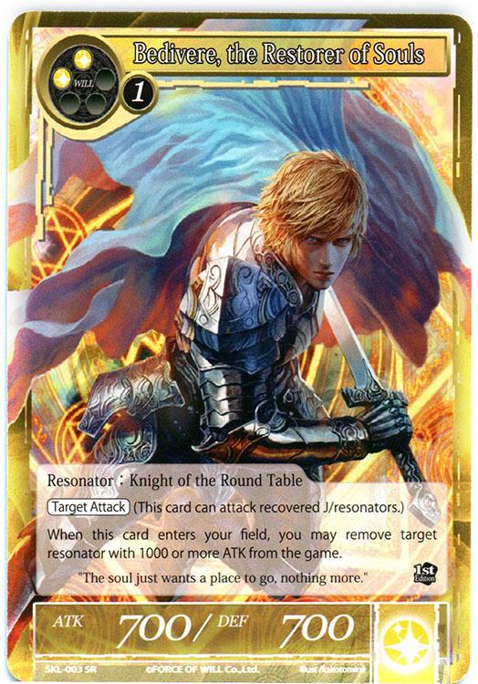 Bedivere, the Restorer of Souls - SKL-003 - SR - 1st Edition (Foil)
