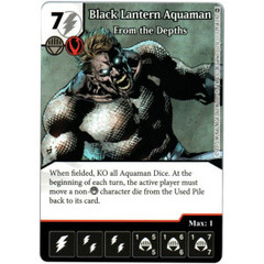 Black Lantern Aquaman - From the Depths (Die & Card Combo)