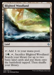 Blighted Woodland - Foil on Channel Fireball