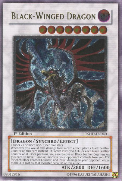Black-Winged Dragon - TSHD-EN040 - Ultimate Rare - 1st Edition