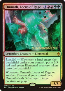 Omnath, Locus of Rage - Battle for Zendikar Prerelease Promo