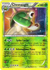Chesnaught - 11/162 - Holo Rare - Reverse Holo on Channel Fireball