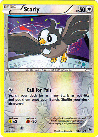 Starly - 125/162 - Common - Reverse Holo