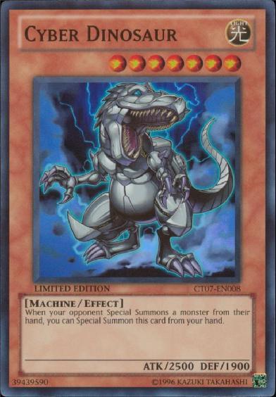 Cyber Dinosaur - CT07-EN008 - Super Rare - Limited Edition - Promo