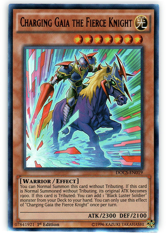 Charging Gaia the Fierce Knight - DOCS-EN019 - Ultra Rare - 1st Edition