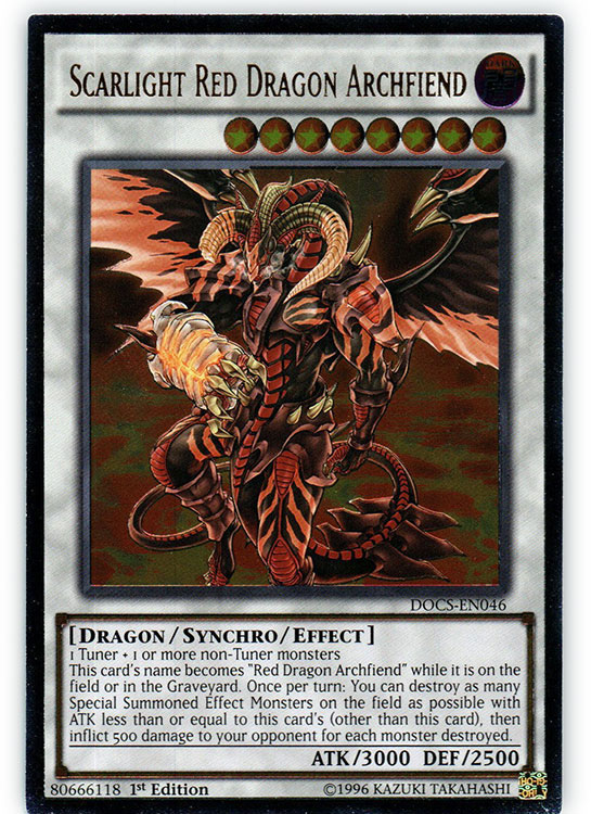 Scarlight Red Dragon Archfiend - DOCS-EN046 - Ultimate Rare - 1st Edition