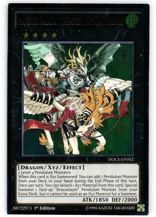 Majester Paladin, the Ascending Dracoslayer - DOCS-EN052 - Ultimate Rare - 1st Edition