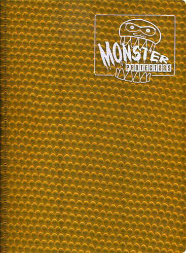 Monster Protectors 9 Pocket Holo Gold Binder