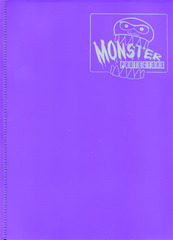 Monster Protectors 9 Pocket Matte Purple Binder