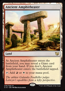 Ancient Amphitheater - MAGIC SINGLES » COMMANDER DECKS » Commander