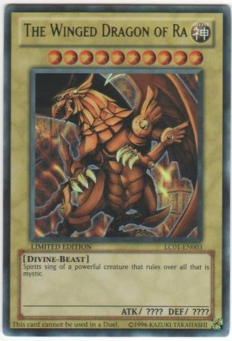 The Winged Dragon of Ra - LC01-EN003 - Ultra Rare - Limited Edition