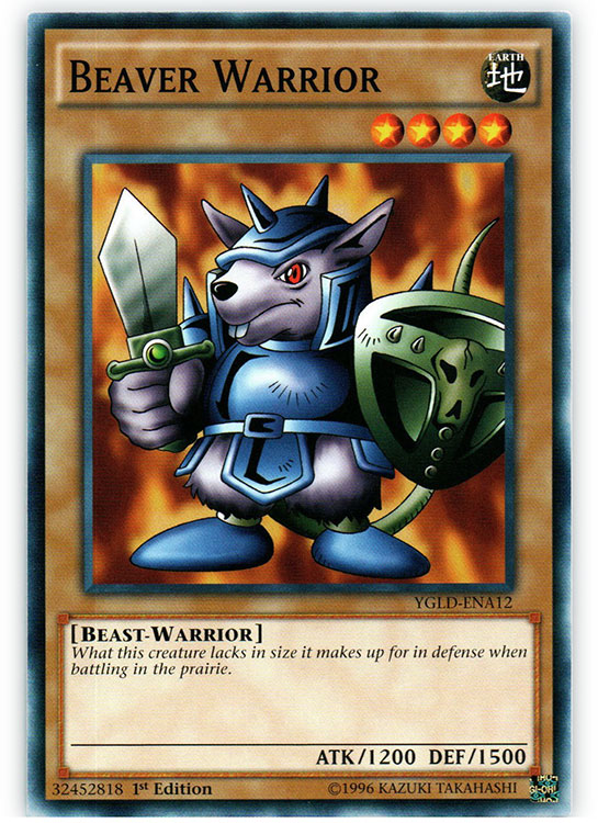 Beaver Warrior - YGLD-ENA12 - Common - 1st Edition