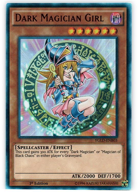 Dark Magician Girl - YGLD-ENB03 - Ultra Rare - 1st Edition